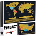 America map scratch off gold map scrape-off earth wall poster journal log stylish memory keeper for traveller