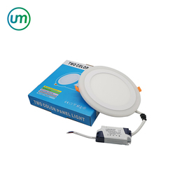 High Quality Ultra Thin White RGB Round Panel Light Dimmable LED Ceiling Recessed Grid Downlight