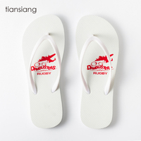 Hot sale 2018 personalization slippers custom print sublimation blanks popular white flip flops