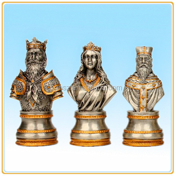 Custom board game names of the chess piece bust statue antique chess pieces