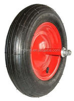 flat free tire 4.00-8 wheel barrow wheel 3 inch solid small rubber wheel