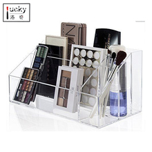 clear acrylic coffee/tea bag box with dividers