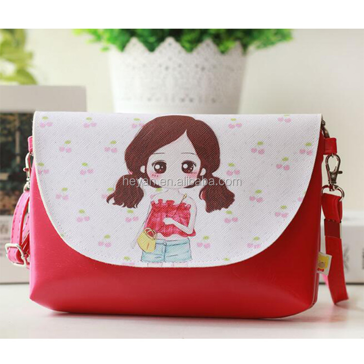 Wholesale Girls Cartoon Leather Coin Pouch Bag