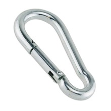 Strong Metal Carabiner Clip Snap Spring Loaded Climbing Karabiner Hook