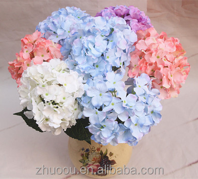 Cheap Artificial Hydrangea Flower Hydrangea Artificial flower Silicone Flowers Artificial for Home Decoration