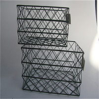 Vintage Industrial Urban Loft Metal Wire Basket
