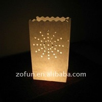 white luminary paper candle bags for wedding decorative