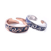 Valentines Day Wedding Rings Jewelry A Pairs Van Gogh Starry Sky Open Couple Silver Ring
