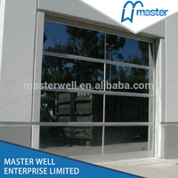 Automatic glass door shop front use garage door with CE