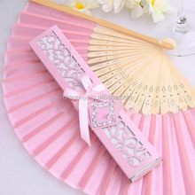 bamboo single chemical fiber silk folding hand gift crafts wedding fan