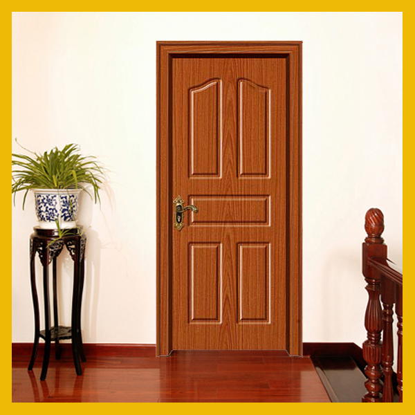 2017 new design sell well Iraq popular pvc sheet living room wood door from Jiangshan city