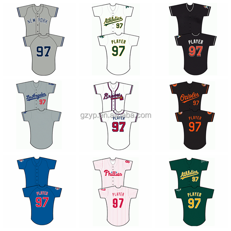 100% polyester top qualtiy dye custom sublimation cheap baseball jersey