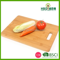 Bamboo square vegetable chopping board with FDA,LFGB,BSCI,SEDEX,FSC