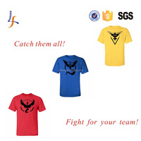 Hot 2016 POKEMON GO Shirt Team INSTINCT Mystic Valor Mens T-shirts Cotton Tee Tops