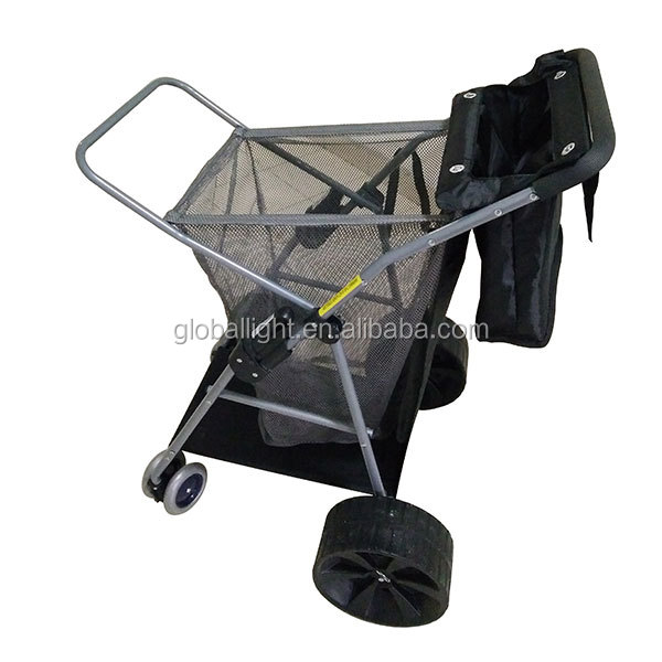 Outdoor Portable Folding Trolley Wheels Beach Cart