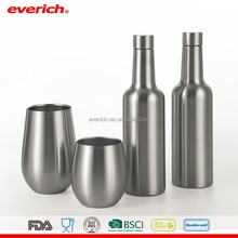 food grade high grade stainless steel thermo ice wine bottle for drinking
