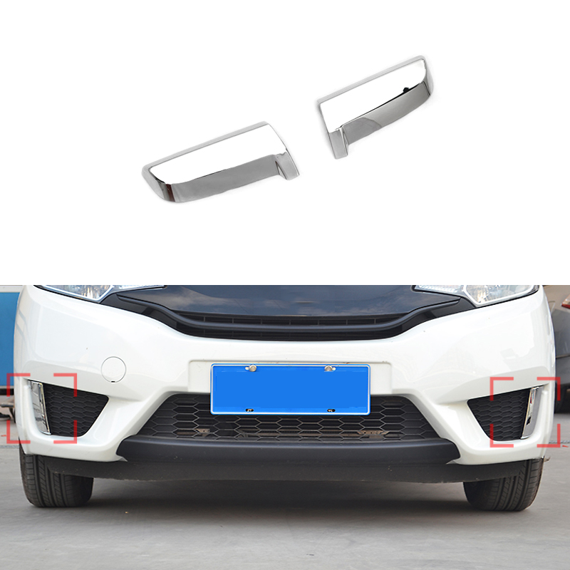 Get Quotations · New 2 Pcs/Set Headlight Light Eyebrow Cover For Honda Fit  2013 2014 2015 Car