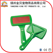 Customized design plastic pet slicker brush pet cleaning brush as seen on tv product