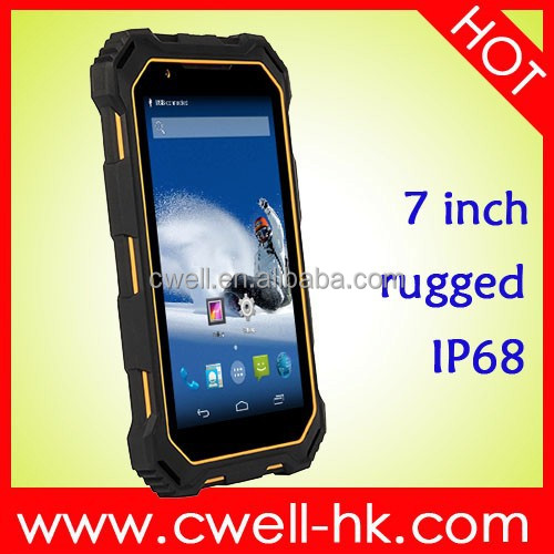 7 Inch Capacitive Touch Screen Android 4.4 Super smart MTK 8382 Quad core ALPS S933 IP68 Waterproof Rugged Tablet PC