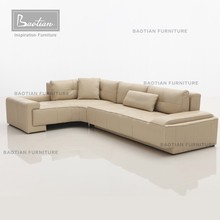 Greece style leather sectional sofa for home ethiopian furniture
