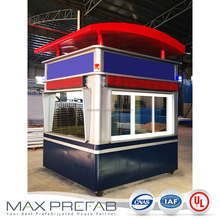 police box design security guard house with tables and desks inside
