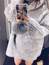 Rabbit Fur Ball Tassel Mirror TPU Case For Iphone 6 6S 7 Plus 5S 4S Samsung Galaxy Note 5 4 3 S5 S4 S8 S8 Plus S7 S6 Edge Plus