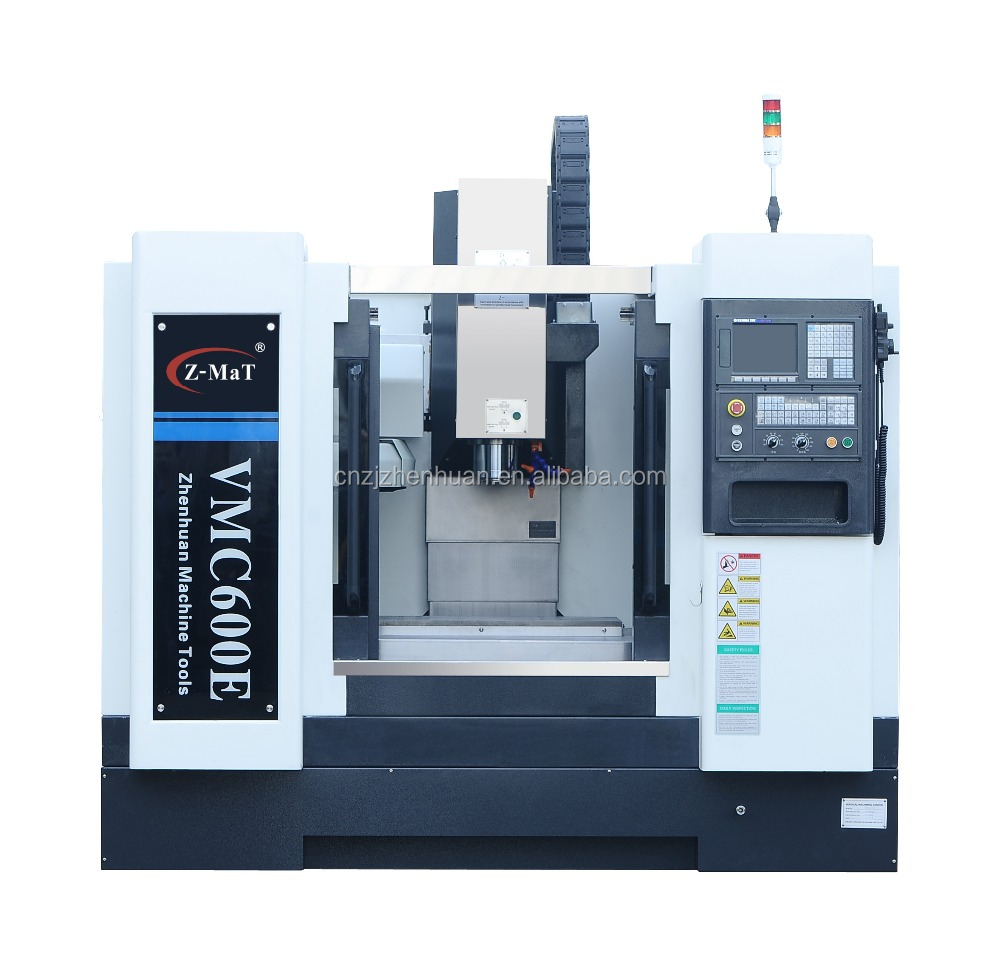 VMC600 cnc milling machine with ATC lubrication system and handheld MPG small milling lathe
