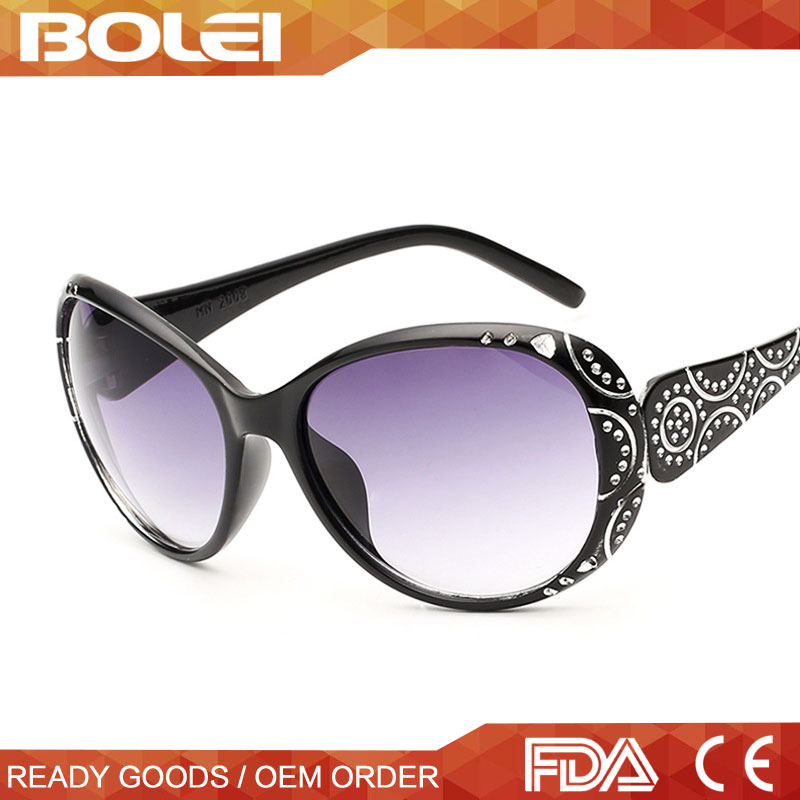 one dollar uv400 promotion women sunglasses with stones