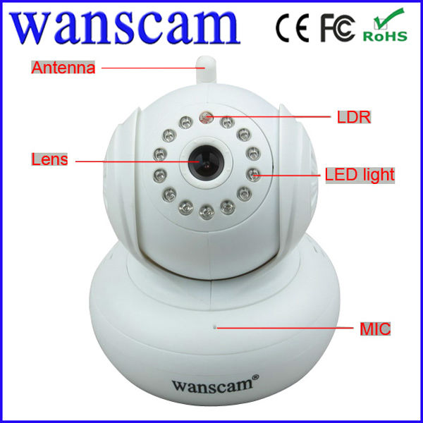 Support 32G SD Card memory wired P2P IR N-vision cctv ip camera home security system