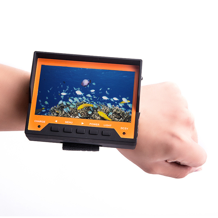 4.3inch lcd monitor 8pcs ir led remote controlled  deeper ice underwater wearable fish finder camera