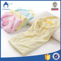 organic cotton bamboo fiber fancy soft baby bath towel with hood