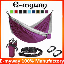 Double Camping Hammock - XL Hammocks, FREE Premium Straps & Carabiners - Lightweight + Compact Parachute Nylon - Backpacker