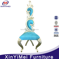 Wood Material and Commercial Furniture General Use king chair silver