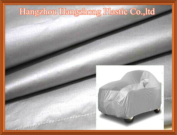 Silver Coating Polyester Waterproof Car Cover Fabric