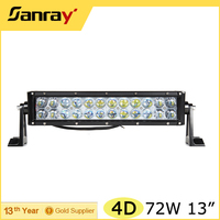 "Jeep Headlight 4D 13"" LED Light Bar 72W LED Light bar for SUV UTV ATV"