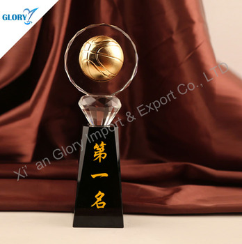 Hot Sale Crystal Sport Basketball Trophy For Winner