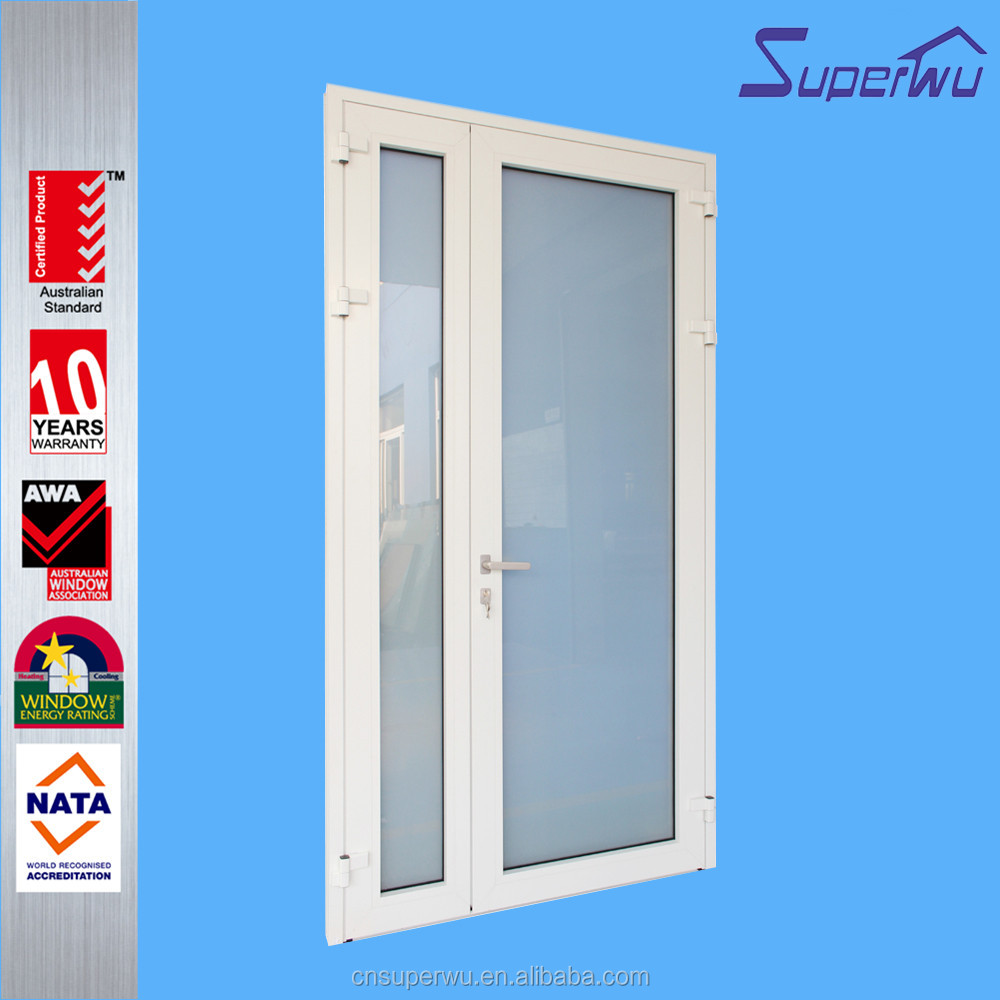 Double tempered aluminum frame glass door with German hardware
