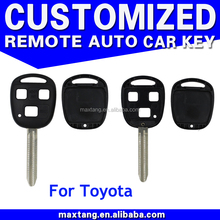 3 Buttons Remote Control Flip Key Shell Case for Toyota Rav4 Land Cruiser Avensis Corolla Celica