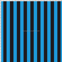 nylon spandex lycra custom blue and black stripe fabric
