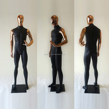 690 New arrival fashion fiberglass plating male mannequin for sale Window Display Male Mannequin adult manikin