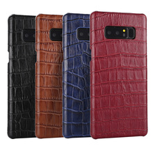 Crocodile Genuine Leather Phone Case for Samsung Note 8 Mobile Back Cover
