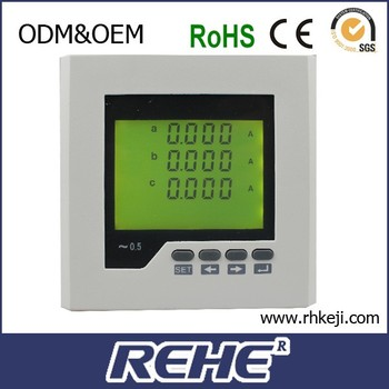 RH-3AA2Y 120*120mm 2016 digital three phase LCD display ampere meter