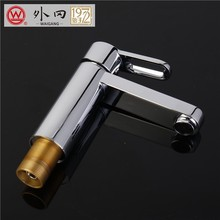 Luxury hotel hot and cold water mixer 8 inch center bathroom faucet