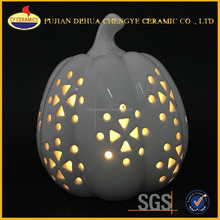 white led pumpkin white ceramic craft pumpkins