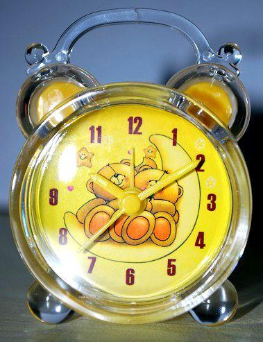 crystal bell clock
