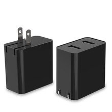 2.4A portable dual USB phone wall charger adapter , 12W wall adapter charger usb with FCC CCC certification
