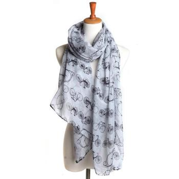 Wholesale Bicycle Print Voile Print Scarf Fashionable Women Scarves shawl