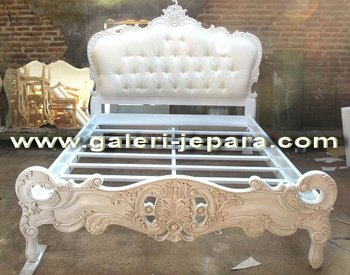 Bed Upholstery Queen Size - Home Decor Furniture - Classic Carving Wood