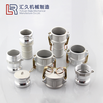 Aluminum female male thread type A B C D E F DC DP 1/2 inch to 6 inch cam and groove quick hose coupling