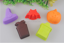 promotion 3d pumpkin shaped silicone DIY cake mold cupcakes pick for halloween gift